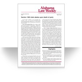 Alabama Law Weekly
